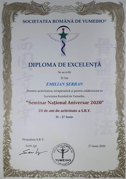 Diploma Excelenta Yumeiho